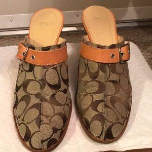 Coach wedge  sandals size 10 B